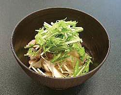 水菜と茸のみぞれ豆腐