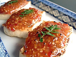 塩豆腐の味噌焼き