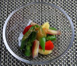 夏野菜の梅掛け