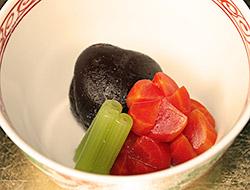 京人参とどんこ椎茸の煮物